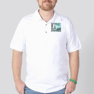 Christmas 1 Cervical Cancer Golf Shirt