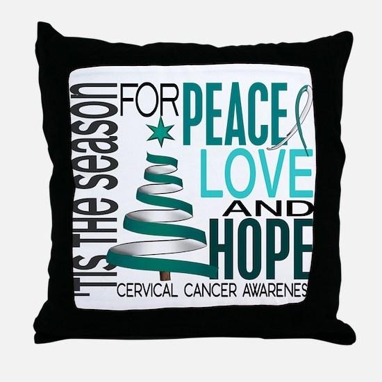 Christmas 1 Cervical Cancer Throw Pillow