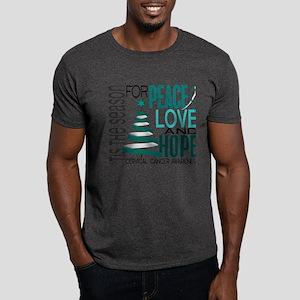 Christmas 1 Cervical Cancer Dark T-Shirt