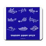HamTees.com Morse Code Keys Mousepad