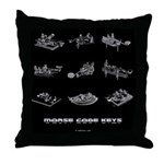 HamTees.com Morse Code Keys Throw Pillow