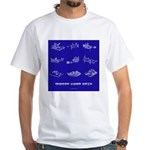 HamTees.com Morse Code Keys White T-Shirt