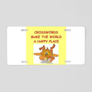 crosswords Aluminum License Plate