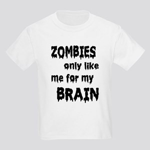 Zombies Like My Brains Kids Light T-Shirt