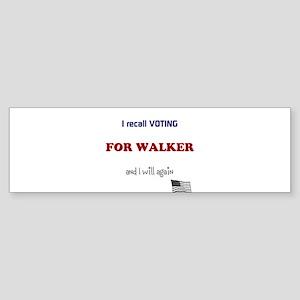 Vote Walker Sticker (Bumper)
