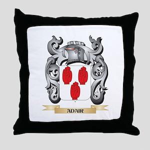 Adair Family Crest - Adair Coat of Ar Throw Pillow