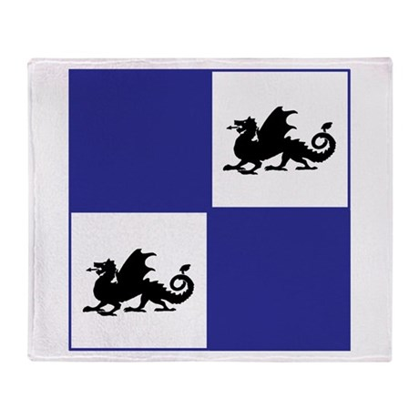 Middle Ages (blue) Throw Blanket