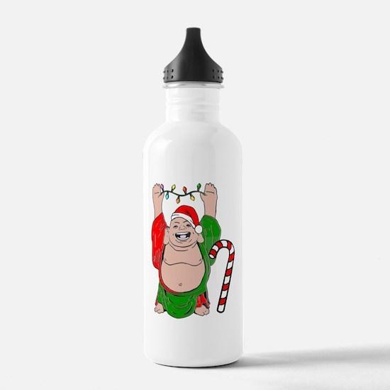 Christmas Buddha Claus Water Bottle