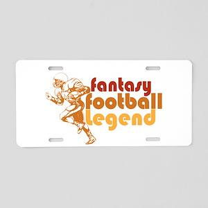 Retro Fantasy Football Legend Aluminum License Pla
