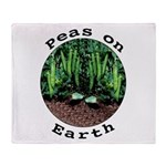Peas On Earth Throw Blanket