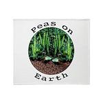 Peas On Earth Throw Blanket