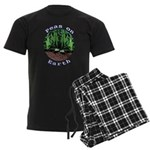 Peas On Earth Men's Dark Pajamas