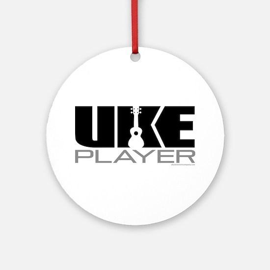 Uke Player Ornament (Round)