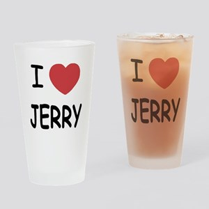 I heart jerry Drinking Glass