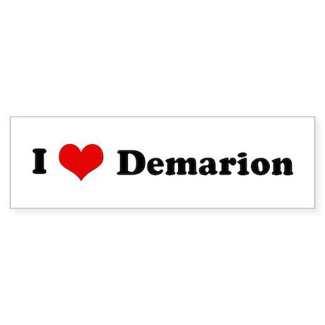 I Love Demarion Bumper Sticker