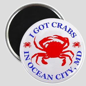 I got crabs in Ocean City Magnet