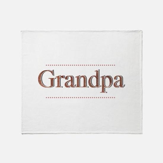 Cute Grandpa Throw Blanket