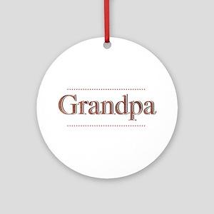 Grandpa Ornament (Round)