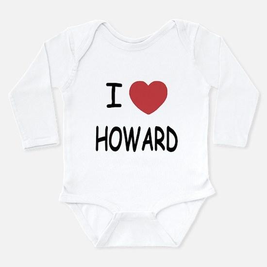 I heart howard Long Sleeve Infant Bodysuit