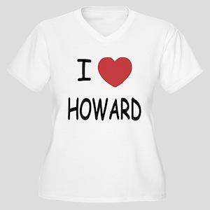I heart howard Women's Plus Size V-Neck T-Shirt