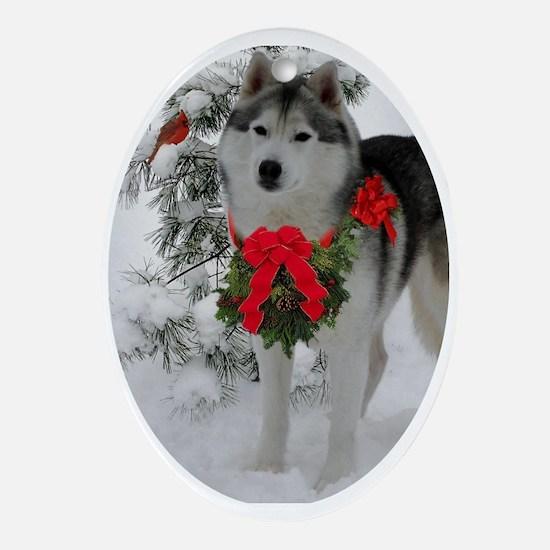 Siberian Husky Puppy Ornament - Ta Ornament (Oval)