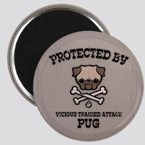 Protected By Pug Magnet