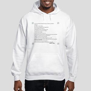 Kahlil Gibran Quote Hooded Sweatshirt