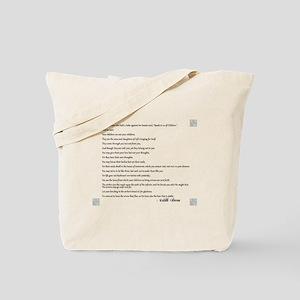 Kahlil Gibran Quote Tote Bag