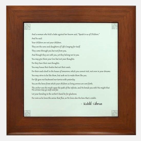 Kahlil Gibran Quote Framed Tile
