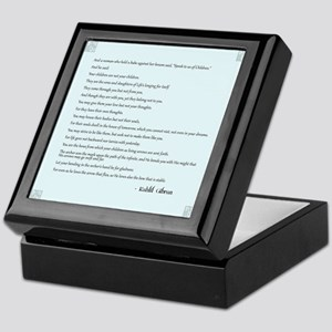Kahlil Gibran Quote Keepsake Box