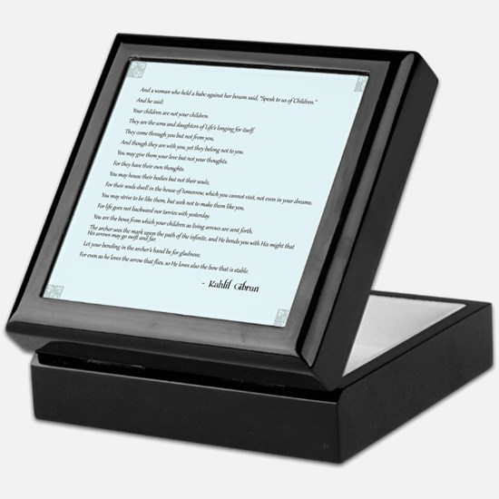 Kahlil Gibran Quote Keepsake Box