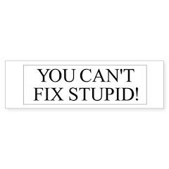 Fix Stupid Bumper Sticker 2