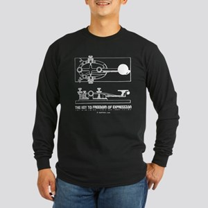 HamTees.com Morse Key Long Sleeve Dark T-Shirt