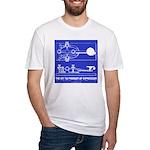 HamTees.com Morse Key Fitted T-Shirt