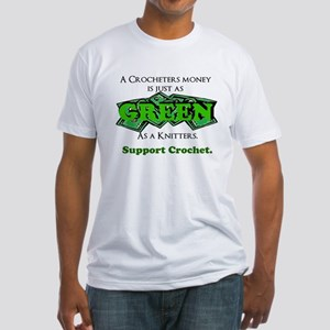 Support Crochet Fitted T-Shirt