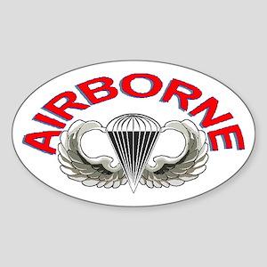 AIRBORNE Sticker (Oval 50 pk)