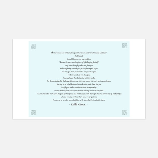 Kahlil Gibran Quote 38.5 x 24.5 Wall Peel
