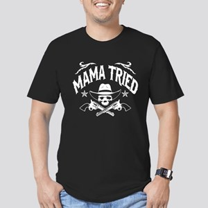 MAMA TRIED - Men's Fitted T-Shirt (dark)