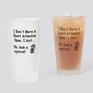 Short Attention Drinking Glass