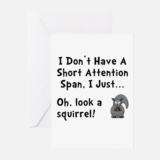 Short Attention Greeting Cards (Pk of 10)