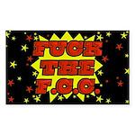 F the FCC Sticker (Rectangular)