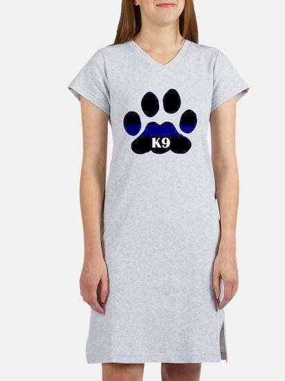 K9 Thin Blue Women's Nightshirt