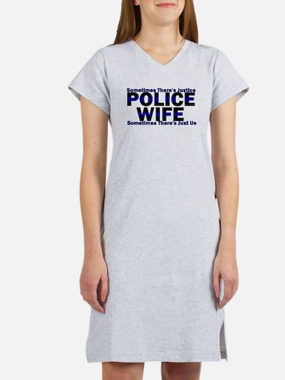 PoliceWives Justice Women's Nightshirt
