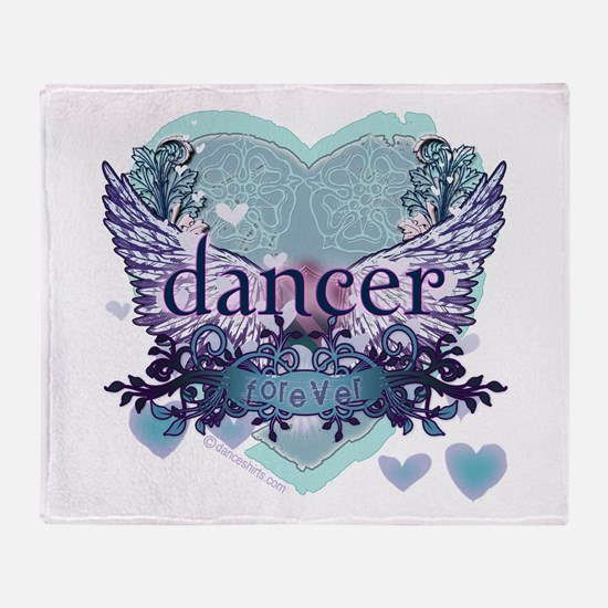 dancer forever by DanceShirts.com Throw Blanket