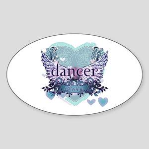 dancer forever by DanceShirts.com Sticker (Oval)