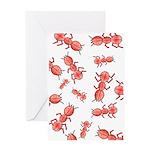 Ant Brain Greeting Card
