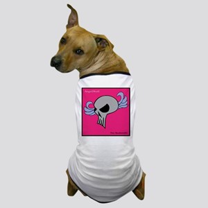 Angel Skull (pink-red) Dog T-Shirt