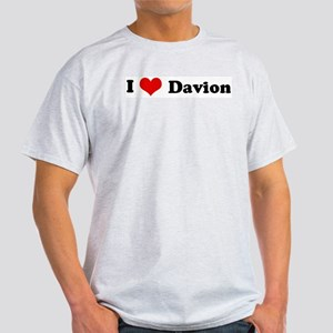 I Love Davion Ash Grey T-Shirt