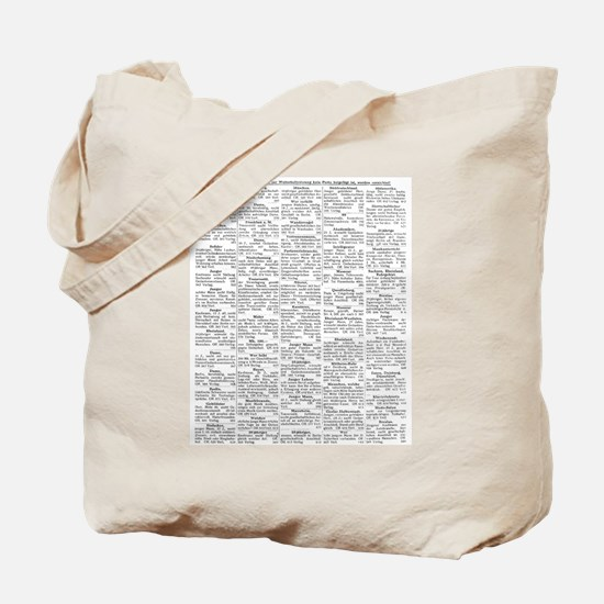 1927 Personal Ads Tote Bag