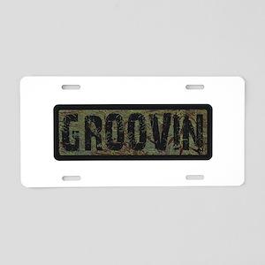 Groovin Aluminum License Plate